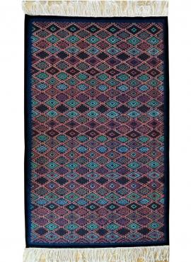 Berber Teppich Teppich Kelim Nassim 120x195 Blau/Rot/Grün (Handgewebt, Wolle) Tunesischer Kelim-Teppich im marokkanischen Stil.