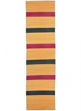 Tapete berbere Tapete na pressa Miza 70x255 listrado Rosa/Verde (Tecidos à mão, Tunísia) Tapete - Esteira de junco natural feito