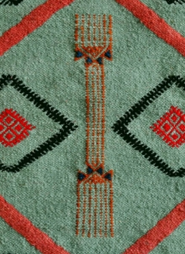 Rug Kilim long Aouled 60x215 Blue (Handmade, Wool, Tunisia)