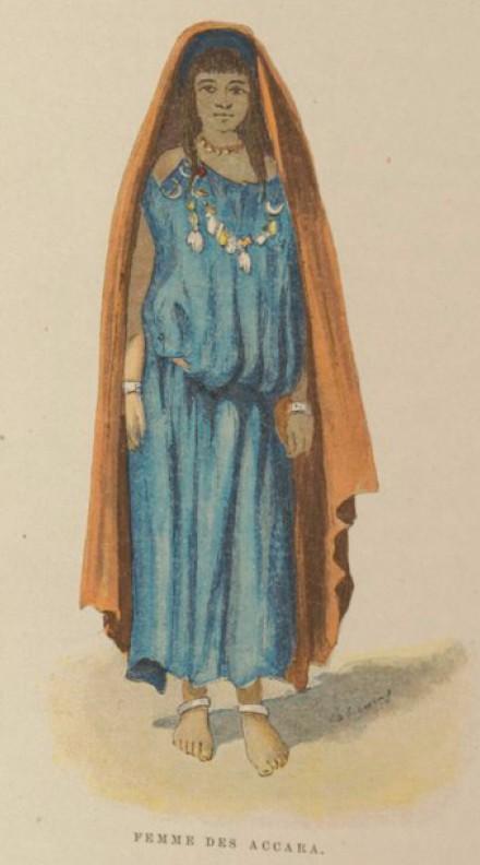 Femme des Accaras - Charles Lallemand, La Tunisie, pays de protectorat français, 1892.