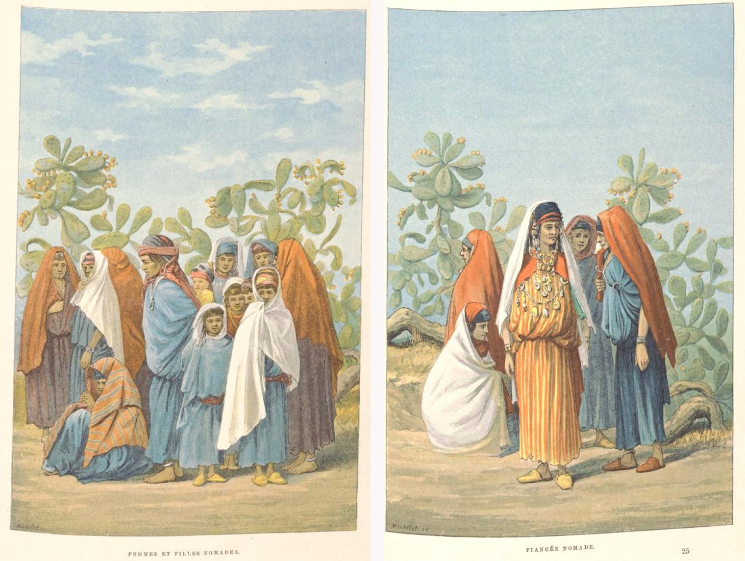 Femme nomades - Charles Lallemand, La Tunisie, pays de protectorat français, 1892.