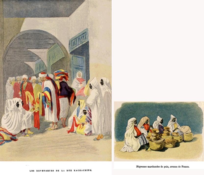 Femmes tunisiennes en sefsari - Charles Lallemand, Tunis et ses environs, 1992.
