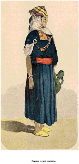 Femme nomade arabe du nord de la Tunisie - Charles Lallemand, Tunis et ses environs, 1992.