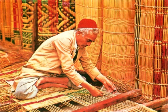 Mat makers from Nabeul (Tunisia)