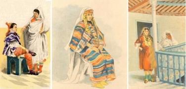El vestimenta / traje tradicional de las mujeres tunecinas